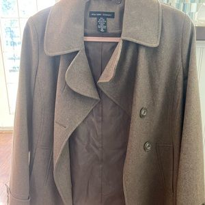 New York and co size 10 wool pea coat